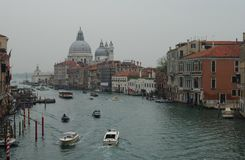 View towards Chiesa di Santa Maria delle Salute in Venice. Royalty Free Stock Photo