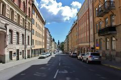 View towards City Hall in Stockholm Stock Image