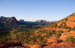 View towards Courthouse Butte and Bell Rock, Sedona Royalty Free Stock Image