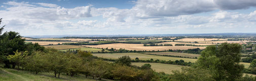 View towards Didcot Power Station from the Chilterns. Distant view of Didcot power station showing its location in rural Oxfordshire royalty free stock photography