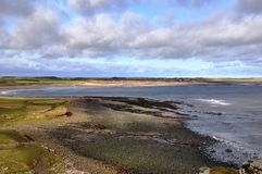 View towards Embleton Bay in Northumberland Stock Photo
