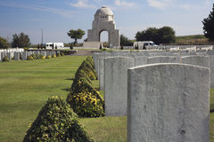 View towards the entrance of the Cabaret-Rouge cemetery stock photo