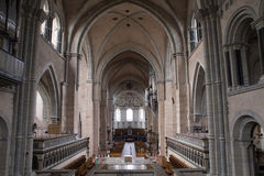 View Towards Entrance in Trier Cathedral Royalty Free Stock Photos
