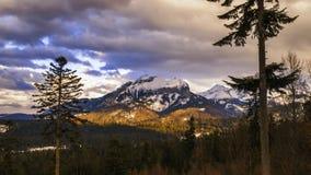View towards Havran Peak in Tatra Mountains in Slovakia - time lapse video 30fps stock footage