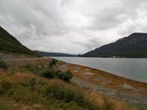 Langfjord Coast Road E6 Waters Edge royalty free stock image