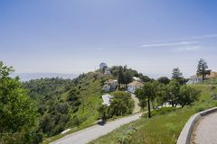 View towards the historical Lick Observatory building, Mt Hamilton, San Jose, San Francisco bay area, California stock images