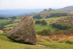 View towards Hound Tor, Dartmoor Stock Image