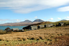 View Towards Jura from Bunnahabhain, Islay, Scotland. Royalty Free Stock Photos