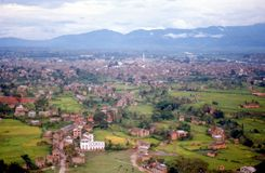 1975. Nepal. View of Katmandu. Royalty Free Stock Images