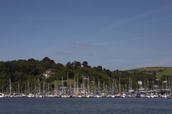 View towards kingswear marina Royalty Free Stock Images