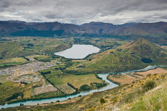 View Towards Lake Hayes. Near Queenstown in New Zealand Royalty Free Stock Photo