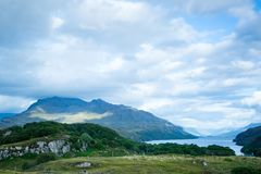 View over loch maree in northern scotland Royalty Free Stock Photo