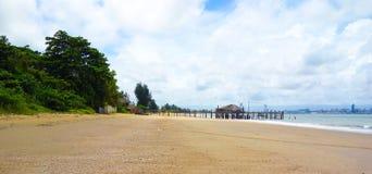 View towards Maputo city from Catembe beach Royalty Free Stock Photos