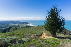 Free View Towards Montara From The Trail To The Summit Of Montara Mountain, California Stock Image - 135811601