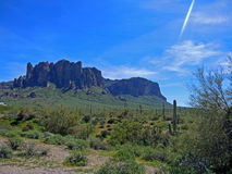 View Towards the Peaks at Lost Dutchman State Park Royalty Free Stock Photos