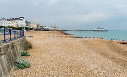 View towards pier in Eastbourne UK Royalty Free Stock Photography
