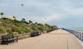View towards pier in Eastbourne UK Royalty Free Stock Image