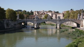 View towards the Ponte Sant'Angelo stock video footage