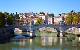 View towards the Ponte Sant'Angelo Royalty Free Stock Images