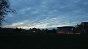 View towards the renewed Van Gogh museum on the museum square. Time Lapse. stock video footage