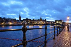 View towards Riddarholmen Royalty Free Stock Photo