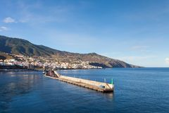 The View Towards Santa Cruz, La Palma. The view towards the Santa Cruz waterfront on the Spanish island of La Palma Royalty Free Stock Images