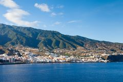 The View Towards Santa Cruz, La Palma. The view towards the Santa Cruz waterfront on the Spanish island of La Palma Royalty Free Stock Photo