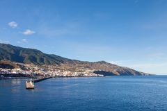 The View Towards Santa Cruz, La Palma. The view towards the Santa Cruz waterfront on the Spanish island of La Palma Stock Photography