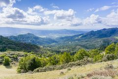 View towards Sonoma Valley, Sugarloaf Ridge State Park, Sonoma County, California Stock Photography