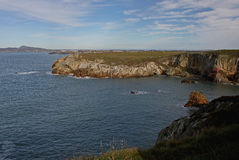 View towards south stack, anglesey, wales Stock Photos