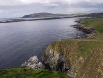 A view towards Sumburgh Head, Shetland Islands, Scotland. A view towards Sumburgh Head at the bottom of the Shetland Islands in Scotland, taken from just outside Royalty Free Stock Photo