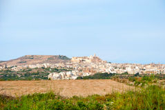 View towards Victoria, Gozo island, Malta Royalty Free Stock Photography