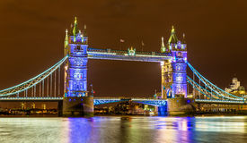 View of Tower Bridge in the evening Stock Image