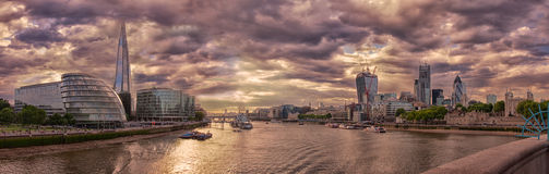 View from Tower Bridge, London stock photo