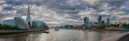View from Tower Bridge, London Royalty Free Stock Photos