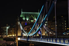View of the Tower Bridge at night: London. Stock Photo