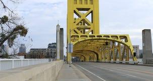 View of the Tower Bridge, Sacramento 4K stock footage
