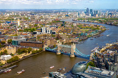 View of Tower Bridge from the Shard - London Royalty Free Stock Photos