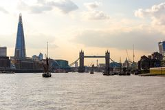 View of tower bridge at sunset, London Royalty Free Stock Photography