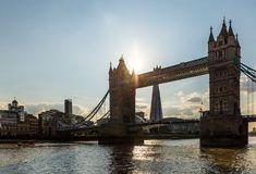 View of tower bridge at sunset, London Royalty Free Stock Photos