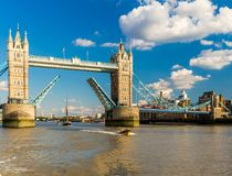 View of tower bridge at sunset, London Royalty Free Stock Images