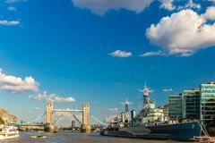 View of tower bridge at sunset, London Stock Photos