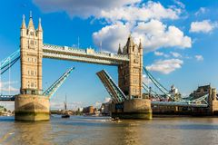 View of tower bridge at sunset, London Royalty Free Stock Photo