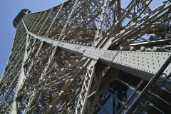 View of the tower eiffel. When view the tower eiffel in the second floor Royalty Free Stock Photography