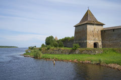 View of the tower, the entrance to the fortress Oreshek, Leningrad region Stock Photography