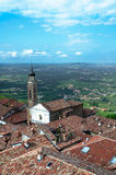 View from a tower of italian city of Langhe, Unesco heritage Royalty Free Stock Photos