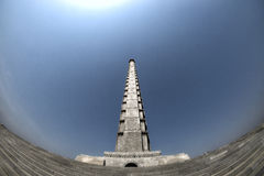 A view of the Tower of the Juche Idea. DPRK - North Korea. Stock Images
