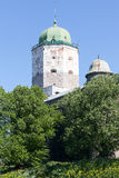 View of a tower of the lock of the city of Vyborg in a sunny day Stock Images
