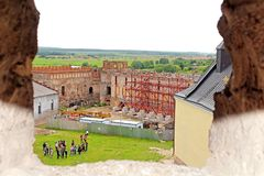 View from the tower on Medzhybizh castle, Ukraine Stock Photography