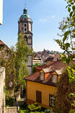 View of the tower of Meissen Stock Image